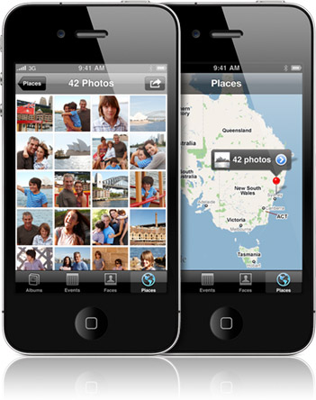 Places - Location-based Photo Album on iPhone 4