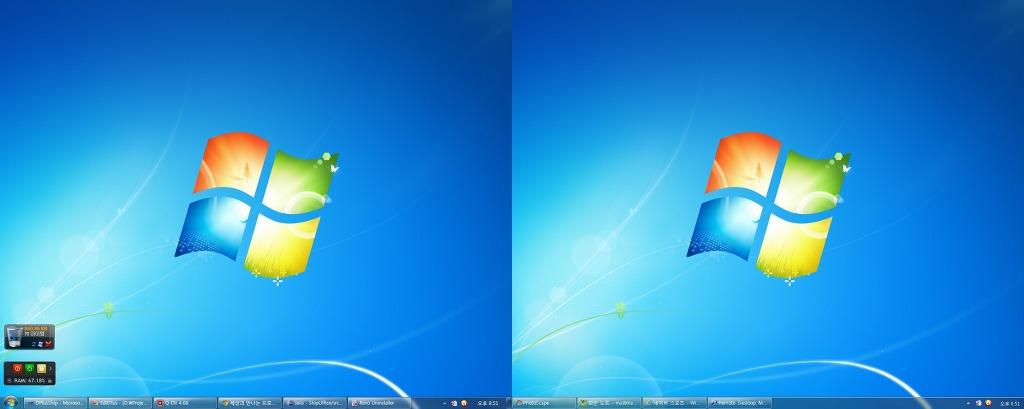 윈도우7 듀얼 모니터 작업 표시줄 확장 무료 프로그램