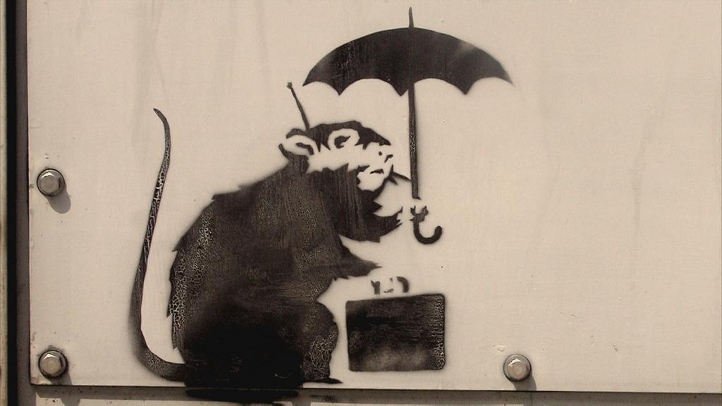 for Banksy rat mural