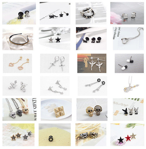 K-pop accessories Korean Kpop wholesale, jewelry, earrings, necklace, rings, bracelet, piercing, hairpin, ponytail, hairband