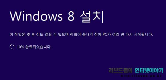 윈도우8 업그레이드 설치