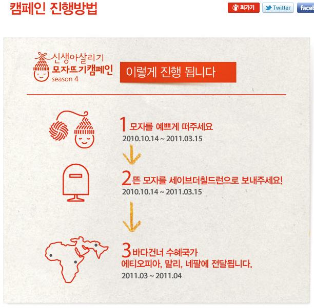 Save the children 신생아 살리기 모자뜨기 캠페인 시즌4