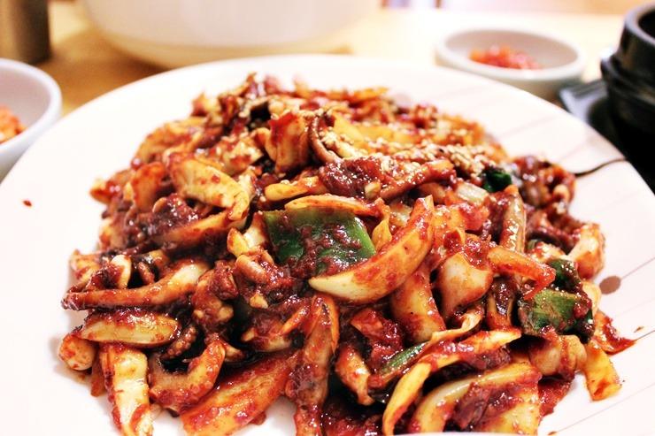 [제주맛집] 매콤한 낙지볶음과 청국장 시골길 옆 우리집식당!!