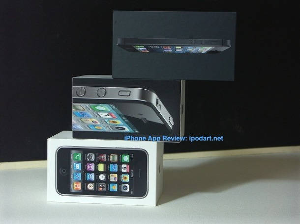 아이폰3Gs 아이폰4 아이폰5 박스 비교샷