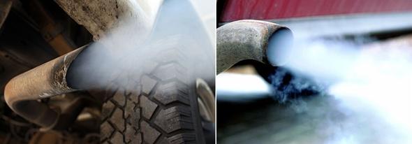 자동차 불완전 연소 배기가스는 공해의 주범
