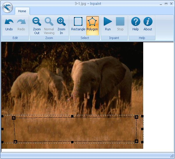 활성화한 뒤 첫 실행 화면 2 - 선택한 뒤 지운 화면