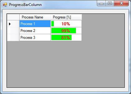 How to Create ProgressBar Column in DataGridView