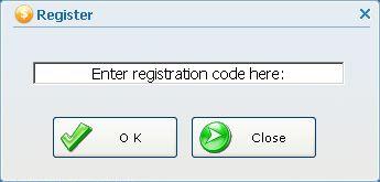 Enter registration code here: 부분에 등록번호 입력
