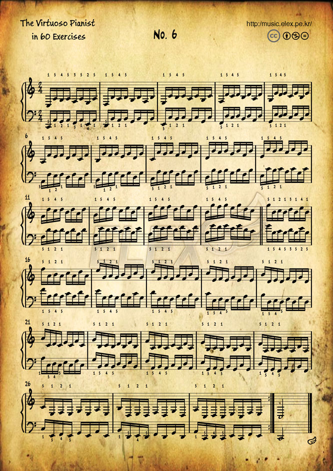 The Virtuoso Pianist in 60 Exercises #6