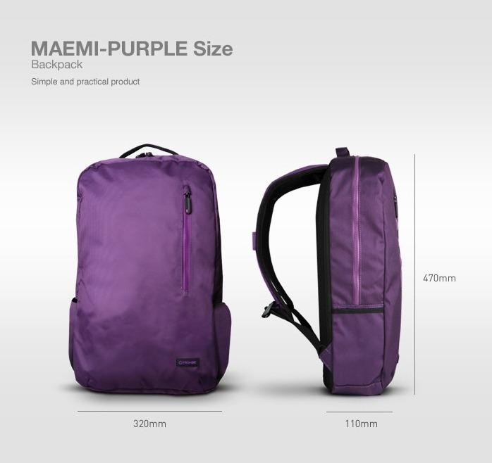폰트리 TROMBE MAEMI Purple 백팩 프리뷰