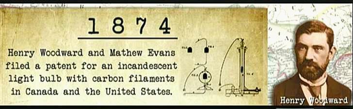 캐나다에서 전구가 최초로 발명되었습니다