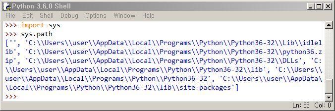 파이썬 PYTHONPATH 환경변수 확인 sys.path