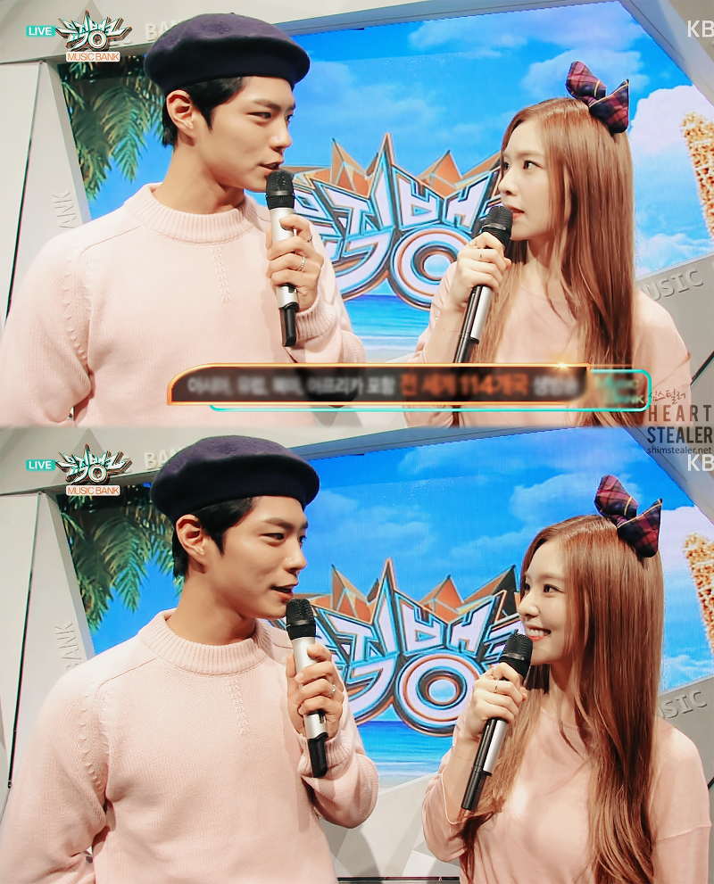 red velvet irene park bo gum music bank