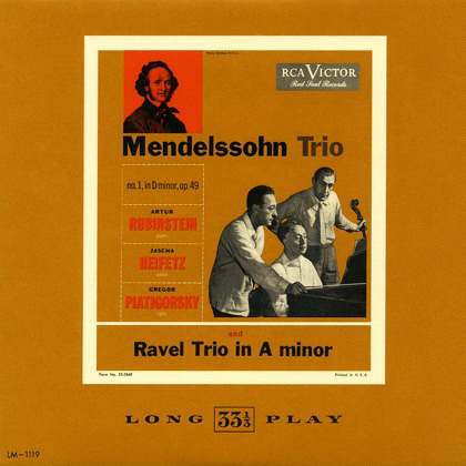 Mendelssohn - Piano Trio No. 1 in D minor op. 49 (Heifetz - Rubinstein - Piatigorsky)