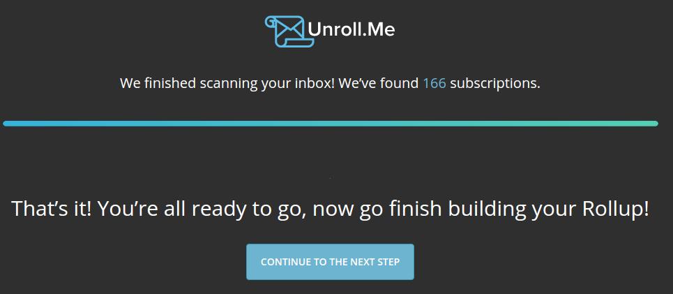 Unroll.Me - EndScan