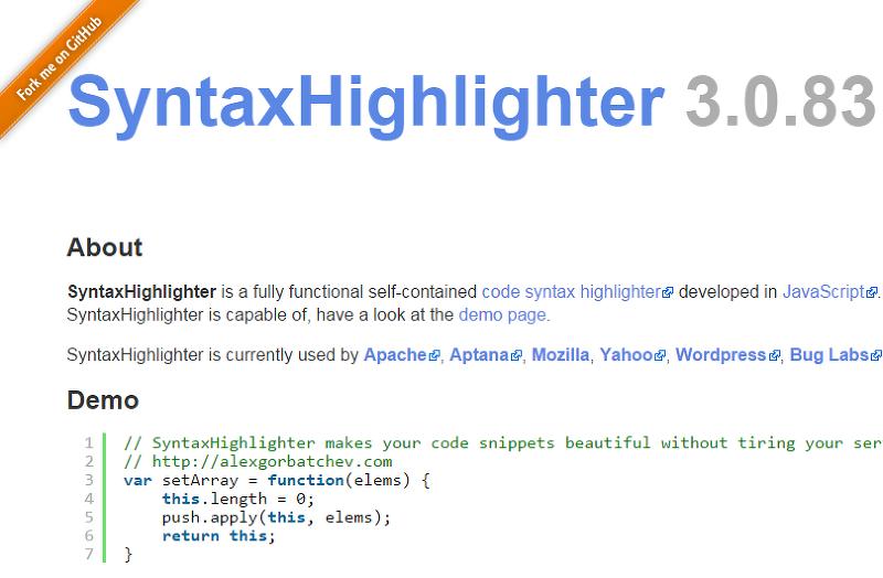 소스코드 문법강조, 프로그래밍 소스코드 문법강조, SyntaxHighlighter, highlight.js, SyntaxHighlighter 사용법, 소스코드 문법 하이라이트, 코드강조, Syntax Highlighting