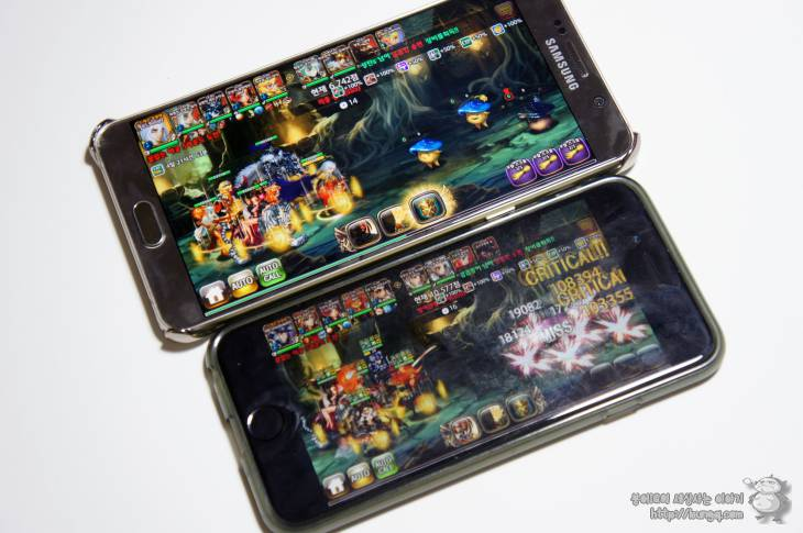 아이폰6s플러스, 아이폰6s, 갤럭시노트5, 비교, 속도, 퍼포먼스, 로딩, 별이 되어라