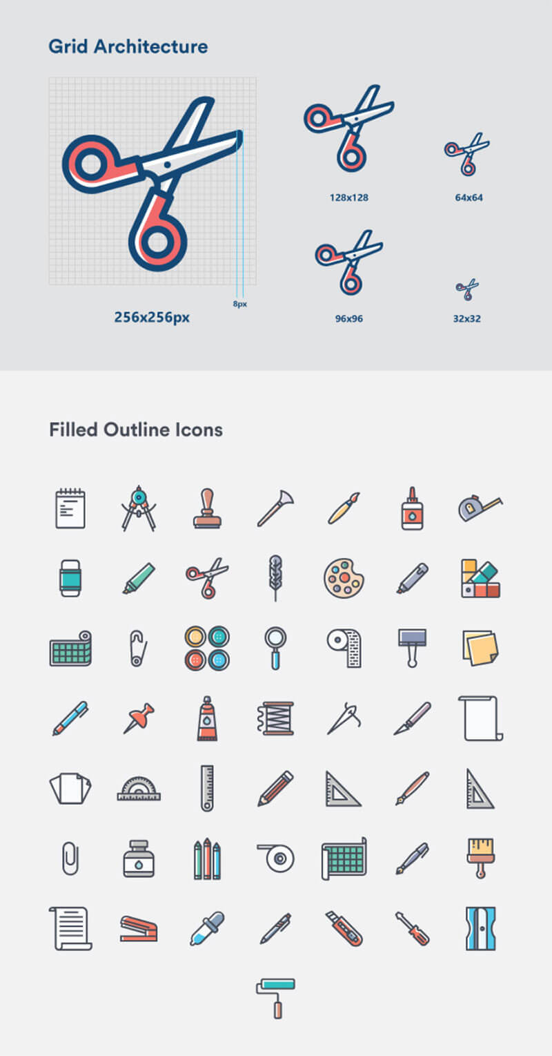 Crafting Free Vector Iconset