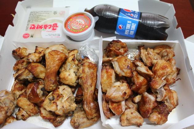 굽네치킨, 한마리 더 세트, 오리지널 굽네치킨, 순살치킨, 만원추가, 치킨무, 콜라, 쿠폰미지급, 소스, 치킨, 닭고기, 소녀시대, 쿠폰, 통닭