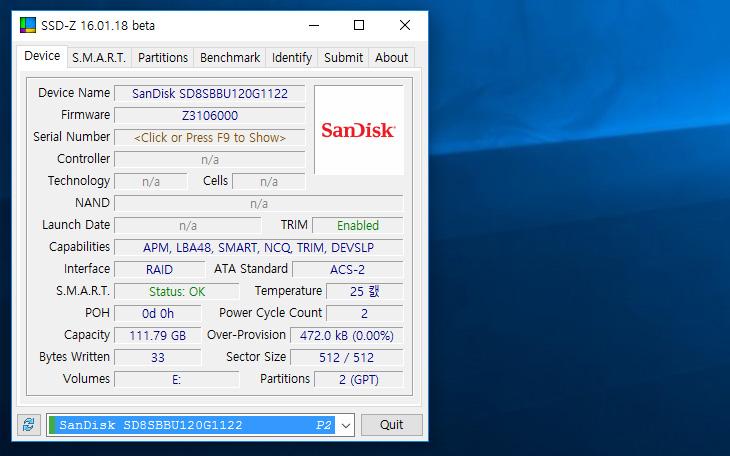 샌디스크 Z410 ,Sandisk, SSD ,벤치마크,IT,IT 제품리뷰,샌디스크,컴퓨터의 성능을 혁신적으로 올리기 위해서는 저장장치의 속도가 중요합니다. 저장장치가 가장 느리기 때문이죠. 샌디스크 Z410 Sandisk SSD 벤치마크를 해 봤습니다. 인지도 있는 메이커 그리고 비교적 저렴한 가격에 괜찮은 성능으로 많이 판매되고 있는 모델의 보급형 후속 버전 입니다. 보급 일반PC에 어울리는 모델로 TLC 낸드플래시를 이용합니다. 샌디스크 Z410는 SLC 캐시를 이용한 속도를 올리는 기능이 추가가 되어있습니다. 용량은 120 240 480GB의 용량으로 준비가 되어있습니다.