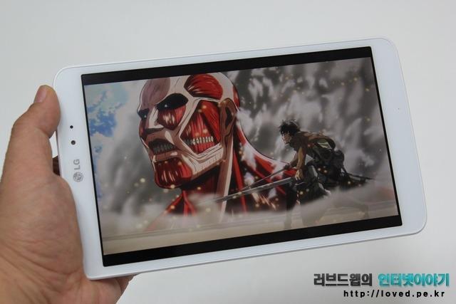 G패드 8.3 액정