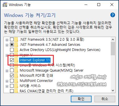 윈도우10 인터넷 익스플로러 제거