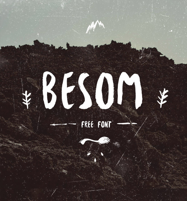 Besom – Free Brush Font