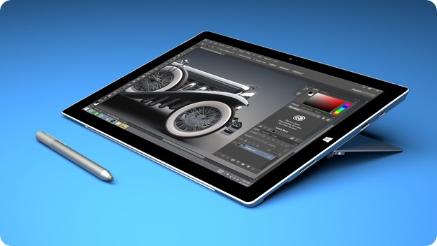 Adobe Photoshop CC on Surface Pro 3