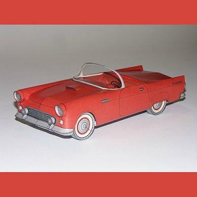 1956 포드 썬더버드 종이모형 만들기!