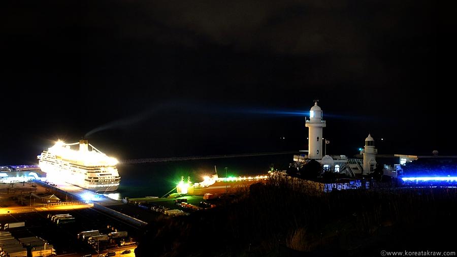 제주산지등대불빛사진