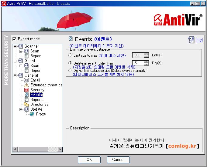 안티비르 (AntiVir) 일반 이벤트