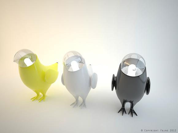 새(鳥)가 된 조명등  Marina's birds