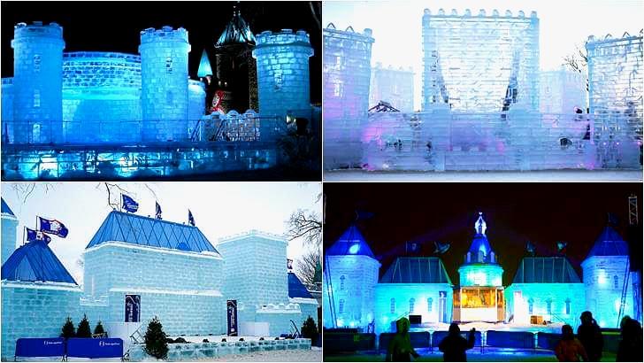 퀘벡 겨울 축제 윈터 카니발 얼음 궁전 입니다.