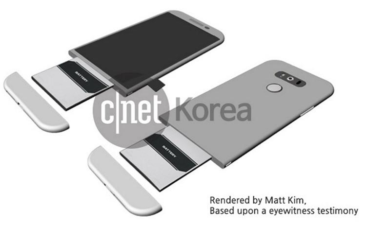 LG G5 랜더링 이미지