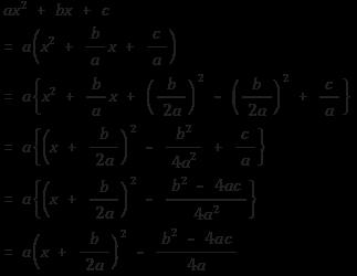 이차식을 완전제곱꼴로 변형하는 과정