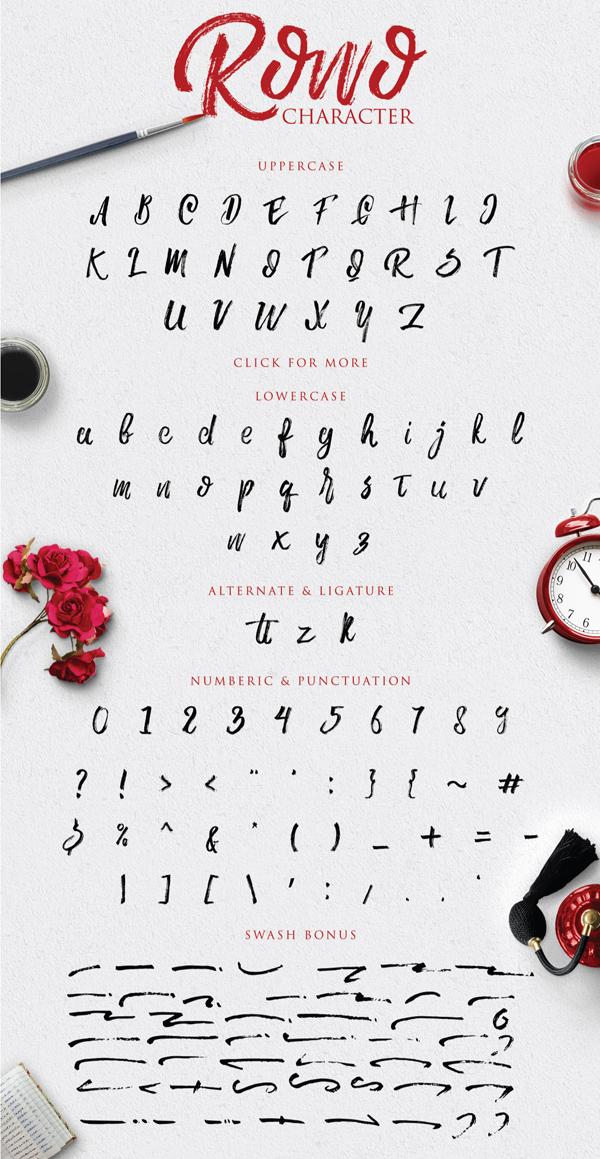 Rowo – Free Brush Font