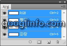 포토샵 CS5 강좌, 채널 패널, Channels panel