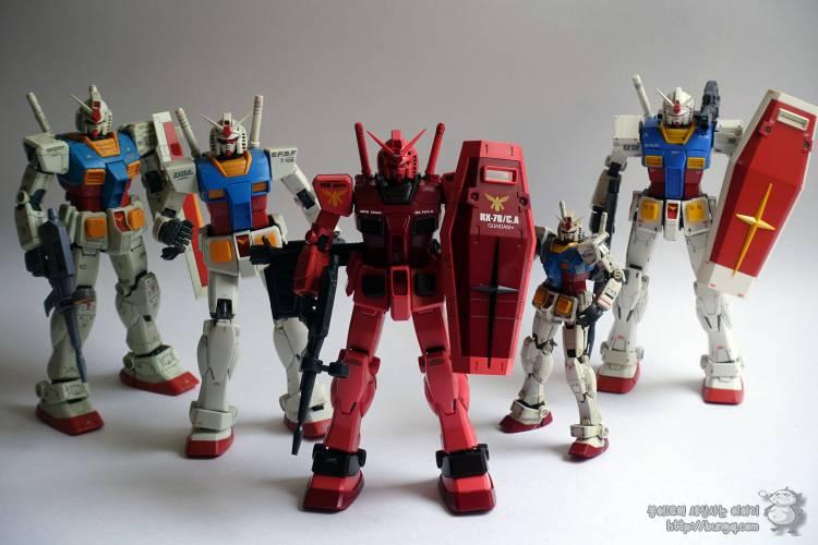 3배, 퍼스트건담, MG, RX-78/CA, rx-78, ca, 캐스발전용기, 포즈