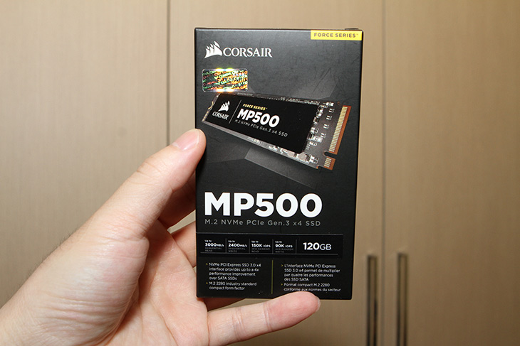 M.2 SSD ,빠른 SSD, NVMe ,커세어 MP500, 120GB, 벤치마크,IT,IT 제품리뷰,점점 저장장치는 빨라지고 비교적 저렴해지고 있습니다. 이제는 SSD도 익숙해졌죠. M.2 SSD 빠른 SSD NVMe 커세어 MP500 120GB 벤치마크를 해 봤는데요. 용량이 좀 작아서 아쉽긴 하네요. M.2 SSD 빠른 SSD NVMe 인터페이스의 커세어 MP500은 용량이 작아도 속도는 상당히 잘 나오긴 하네요. 물론 실제로 사용하는데 있어서는 제가 예전에도 계속 이야기 했듯이 용량이 좀 넉넉한 편이 좋습니다. 요즘은 적어도 256GB 이상을 보통 선택하는 추세이긴 합니다.