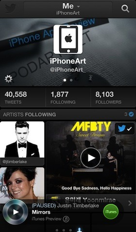 Twitter #music 아이폰 트위터 음악 랭킹 노래 찾기
