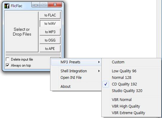 mp3 presets
