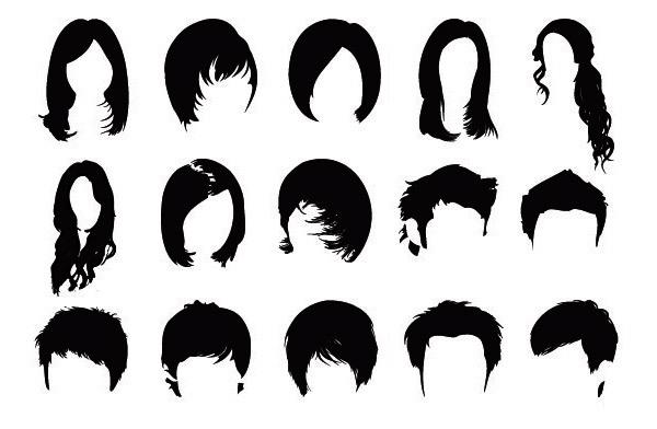 헤어 스타일(hair style) 포토샵 브러쉬 - Free Hair Style Photoshop Brushes