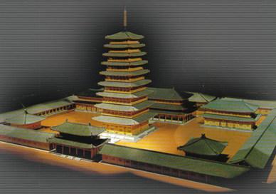 황룡사 9층 목탑 전시 모형