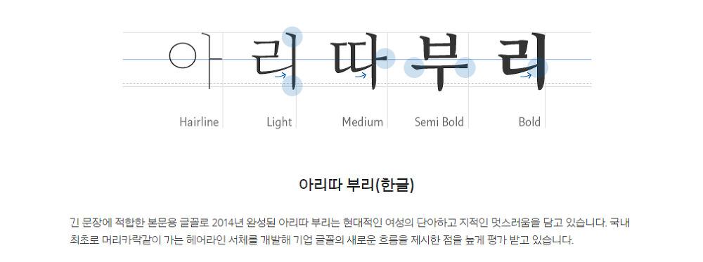 2 가지 무료 한글 폰트 : 아모레퍼시픽 아리따 글꼴 (아리따돋움/아리따부리) - 2 Free Arita Korean Fonts