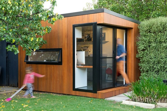 뒤뜰에 작은 사무실 Inoutside Creates A Small Backyard Office
