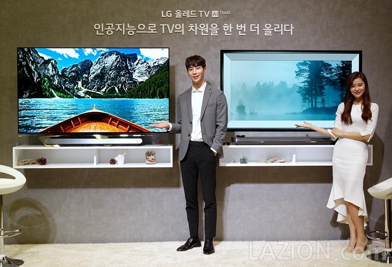 인공지능 ThinQ와 결합한 2018 LG 올레드 TV