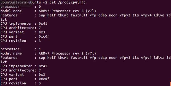 리눅스 명령어 - cat proc cpuinfo