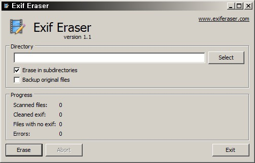 사진 정보 삭제 프로그램 - Free Exif Eraser