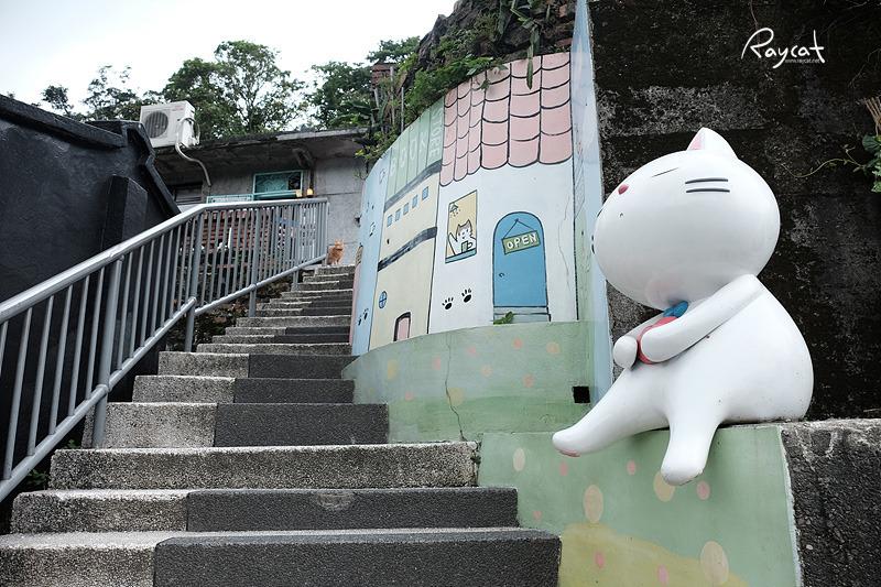 허우통 고양이 마을 고양이 벽화