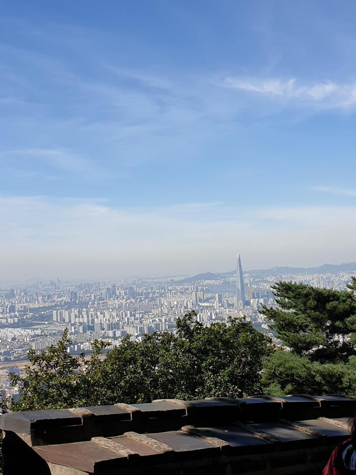 남한산성에서 본 서울전경